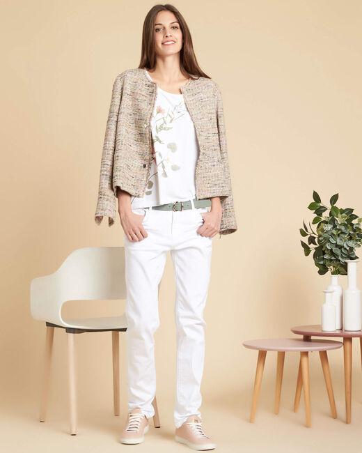 Crea short nude buttoned jacket (1) - 1-2-3