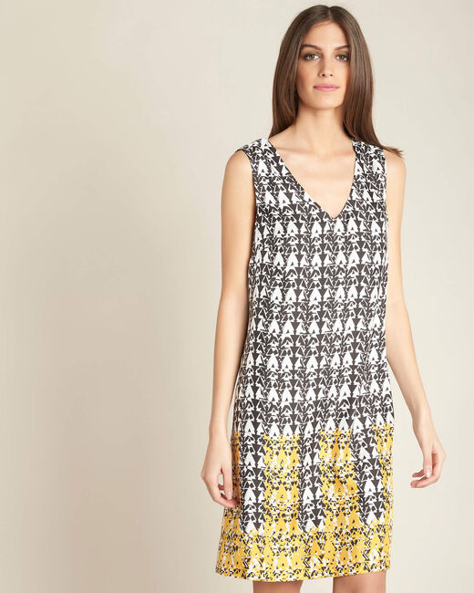 Zijden jurk met print Italy (2) - 37653