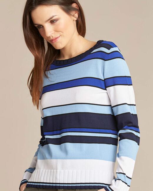 Newave blue striped sweater (2) - 1-2-3