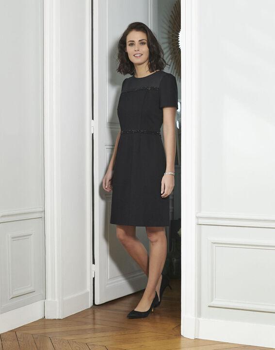 Schwarzes Kleid mit Strass-Details Ness PhotoZ | 1-2-3