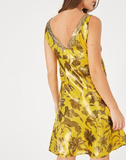 Robe jaune imprimé brillant Bonita (5) - 1-2-3
