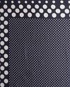 Aloise printed polka polka dot blue silk square scarf (1) - 1-2-3