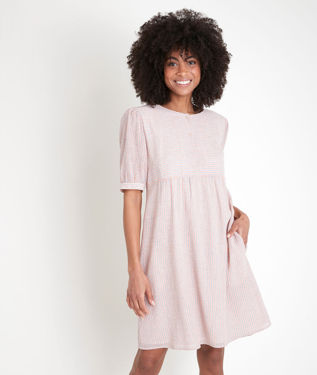 Robe rayée rose Louve PhotoZ | 1-2-3