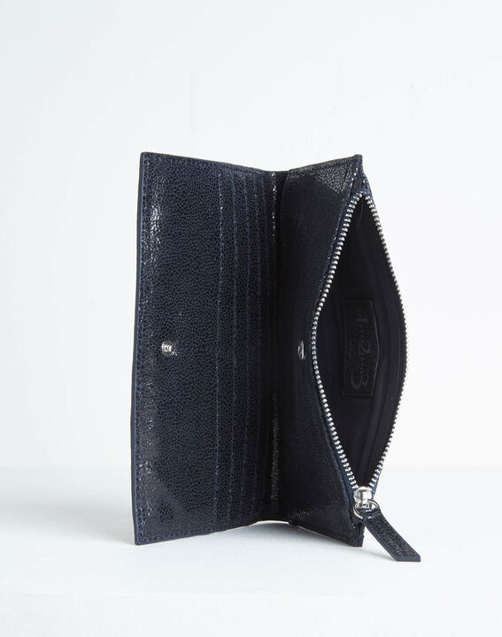 Dita wallet with two leather flaps in black PhotoZ | 1-2-3
