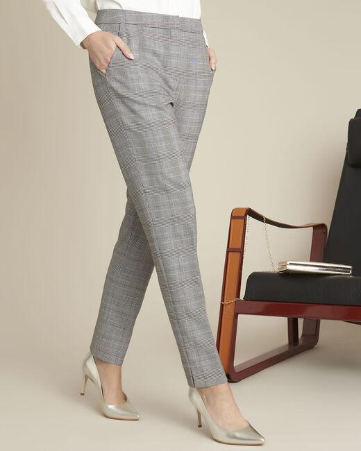 Pantalon gris cigarette à carreaux Harry (2) - 1-2-3