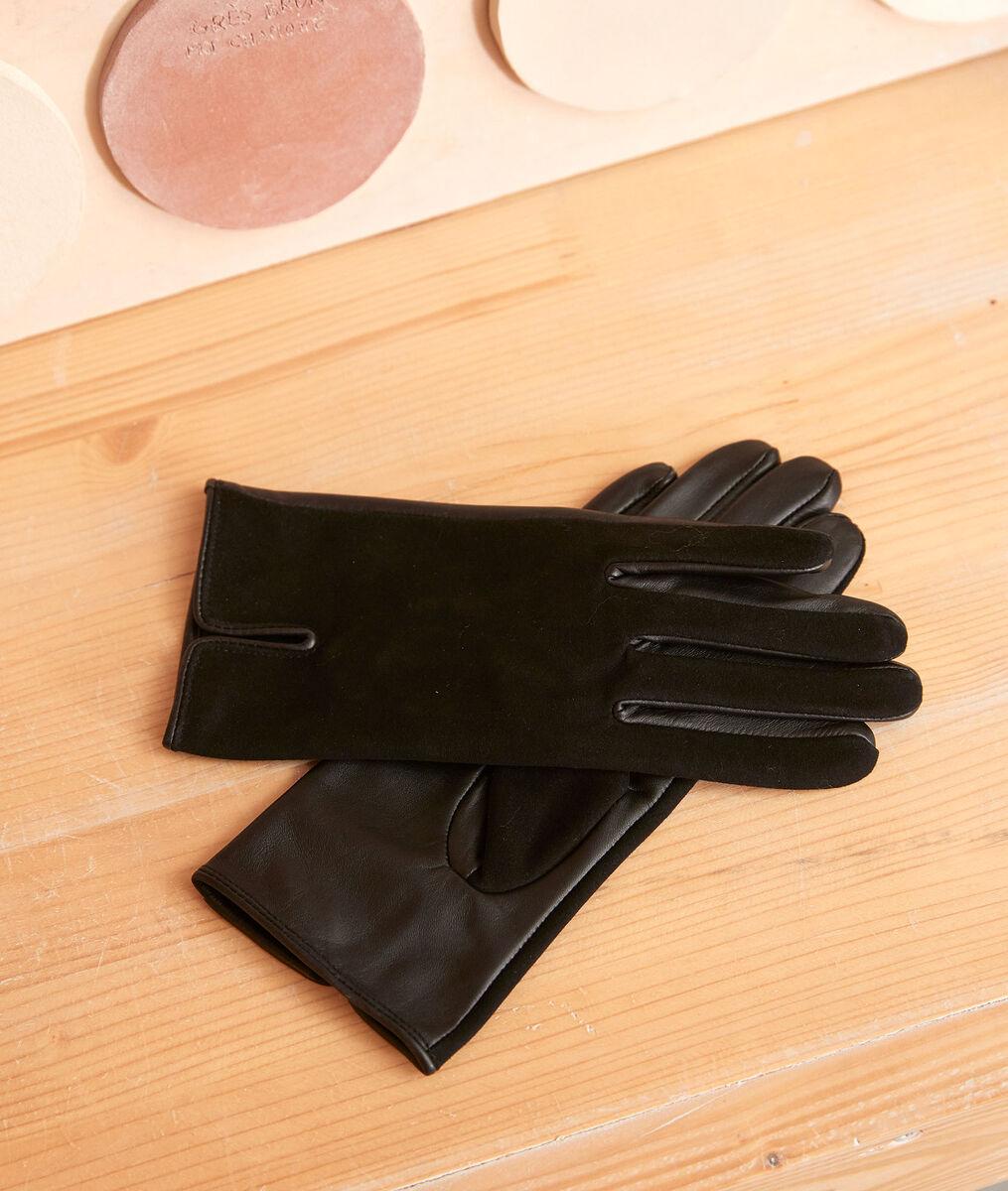 Gants en cuir noirs Urvan PhotoZ | 1-2-3