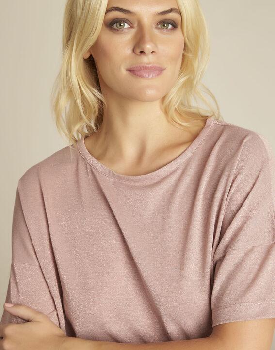 Rosa T-Shirt mit Lurex Galway (3) - 1-2-3