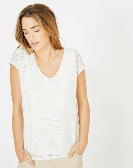 Baya silvery striped T-shirt PhotoZ | 1-2-3