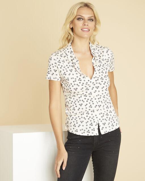 Tee-shirt noir imprimé Laura (1) - 1-2-3