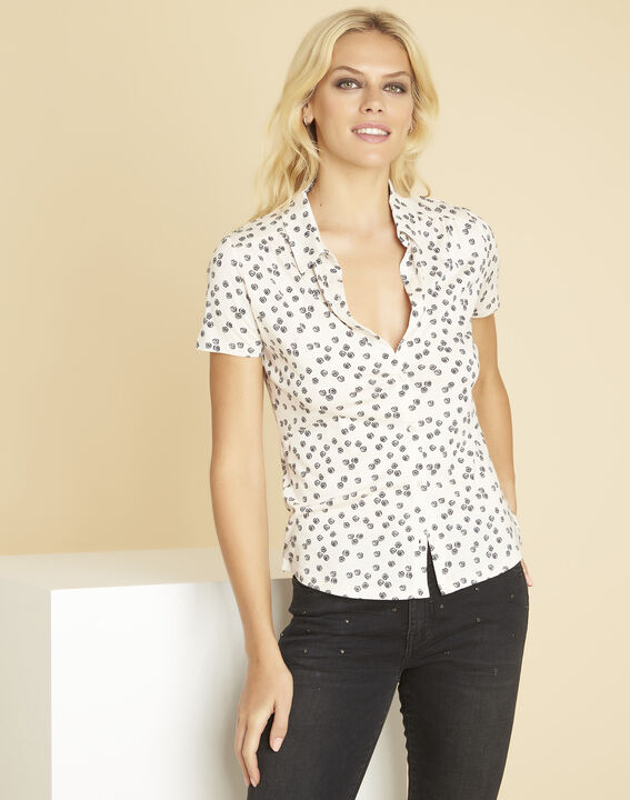 Wit T-shirt met print Laura (1) - 37653