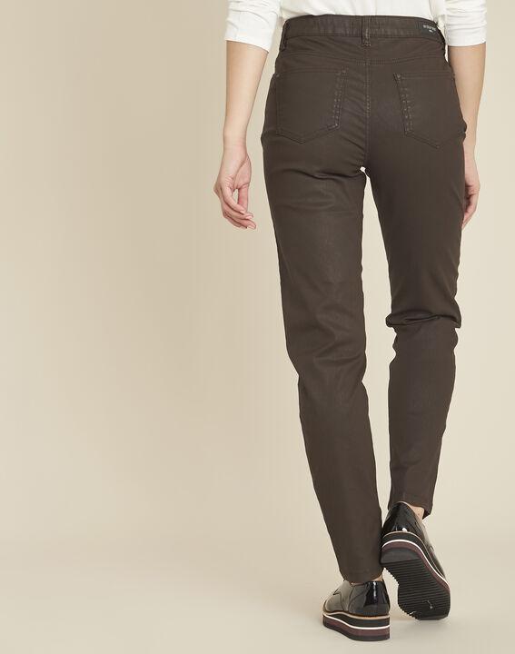 Ebbenhouten 7/8-jeans met coating Vendôme (4) - 37653