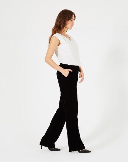 Pantalon noir en velours Kendal (2) - 1-2-3