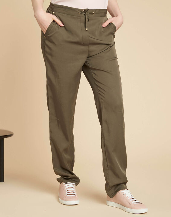 Jane flowing khaki trousers (3) - 1-2-3