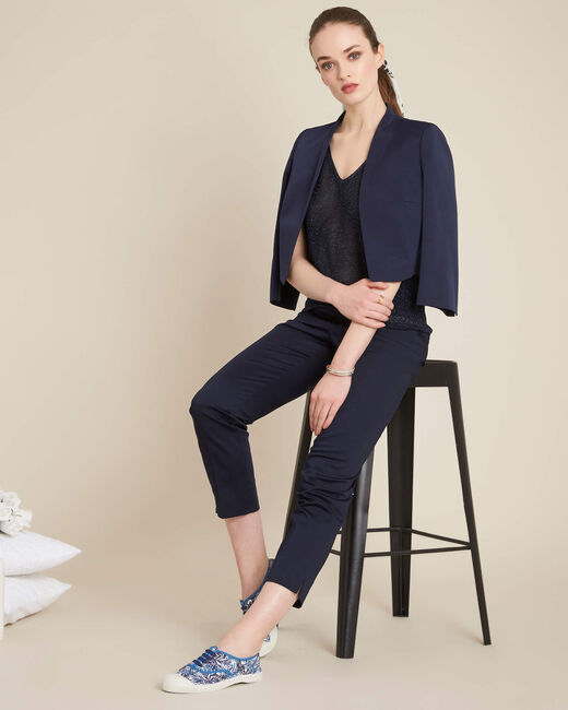 Rubis ⅞-length navy trousers (1) - 1-2-3