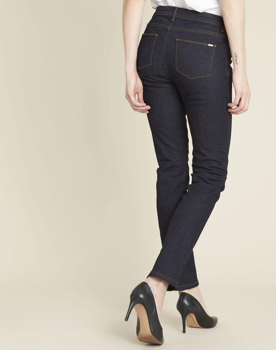 Marineblauwe straight-fit jeans Vivienne (4) - 37653