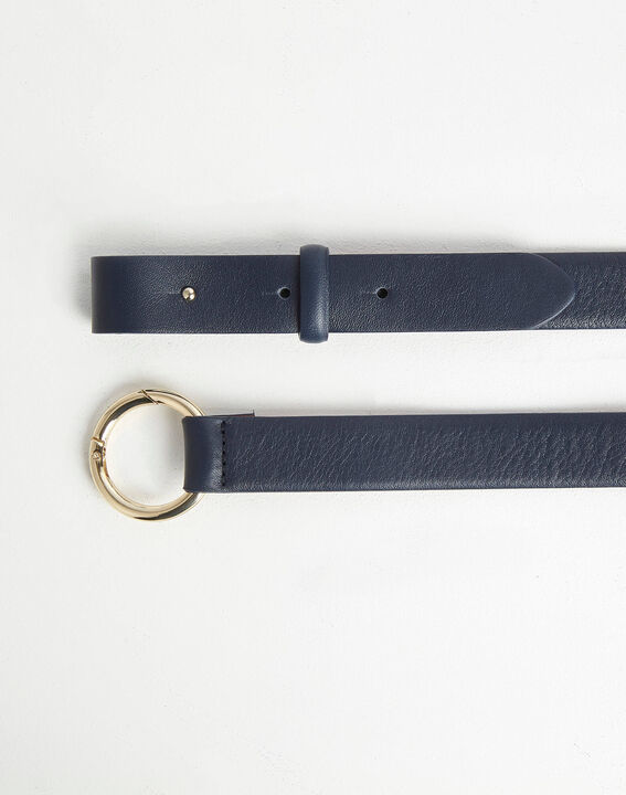 Romie navy belt with ring in leather PhotoZ | 1-2-3