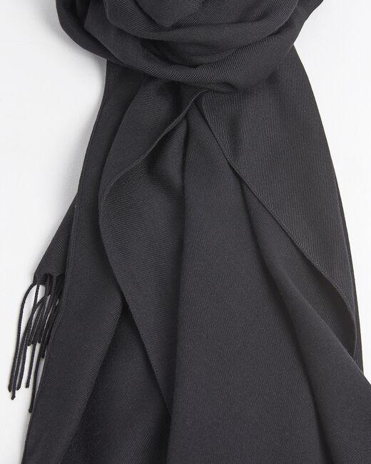 Foulard noir avec franges Fossette (1) - 1-2-3