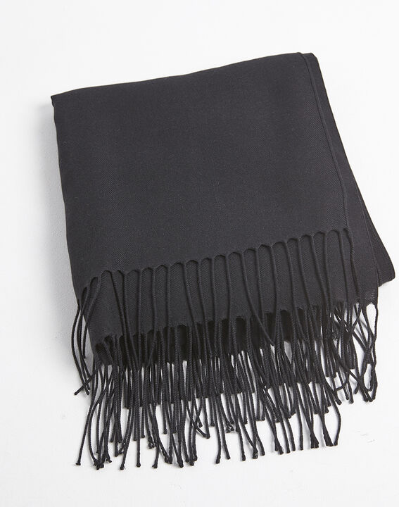 Fossette fringed black scarf PhotoZ | 1-2-3