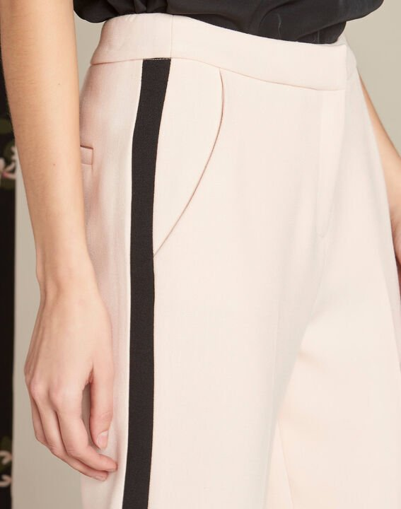 Vadi nude fitted trousers with lateral band PhotoZ | 1-2-3