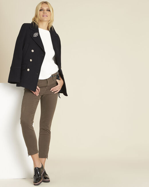 Marineblauwe jas met cabaneffect Elliot (2) - 37653