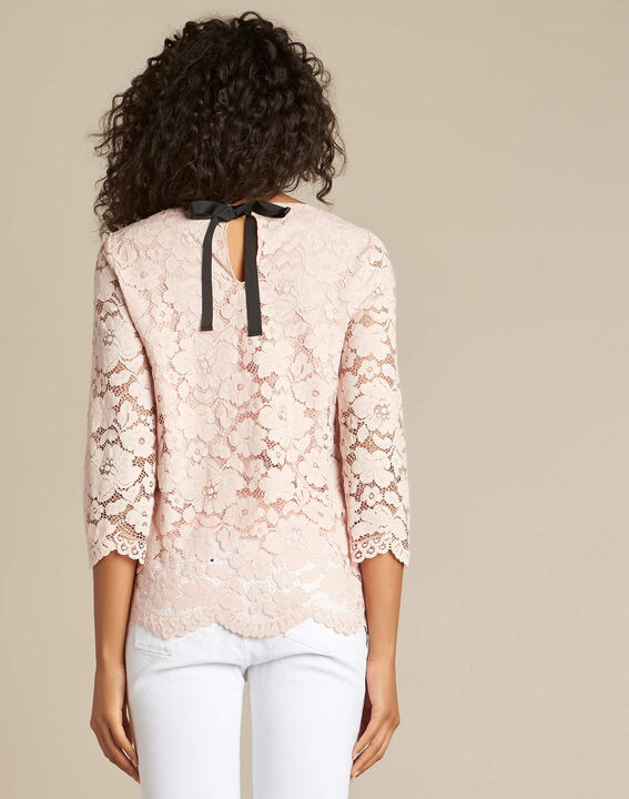 Geraldine powder pink blouse in lace (4) - 1-2-3