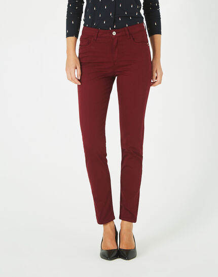 Pantalon bordeaux 7/8 Oliver 2 (3) - 1-2-3