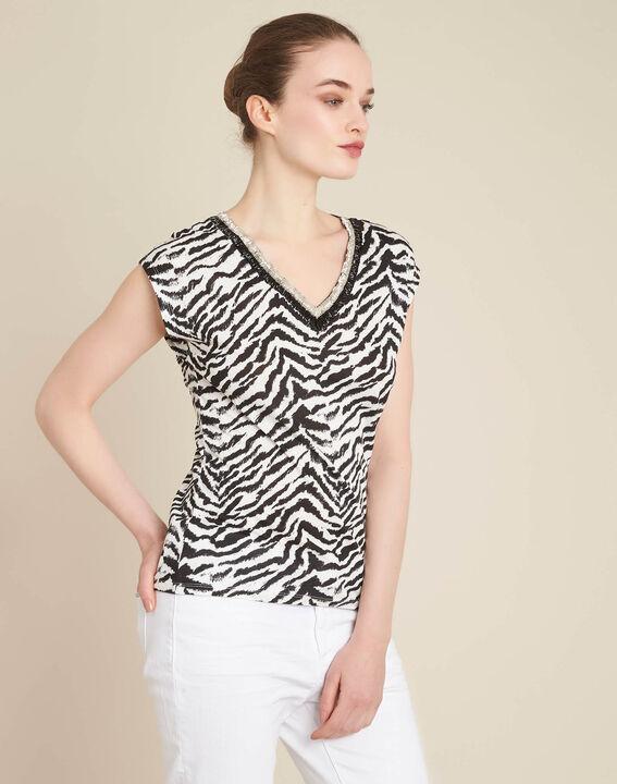 Ete animal print T-Shirt with decorative neckline (3) - 1-2-3