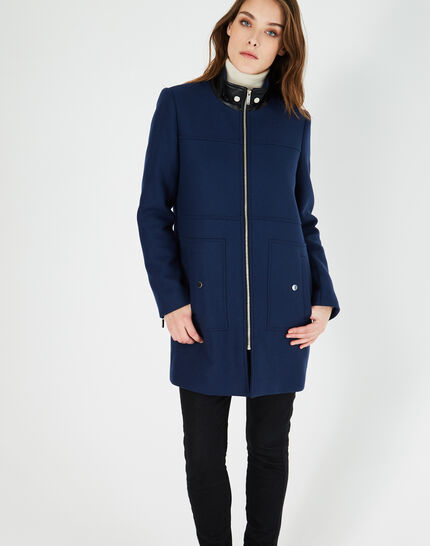 Jackson indigo coat with high collar (3) - 1-2-3