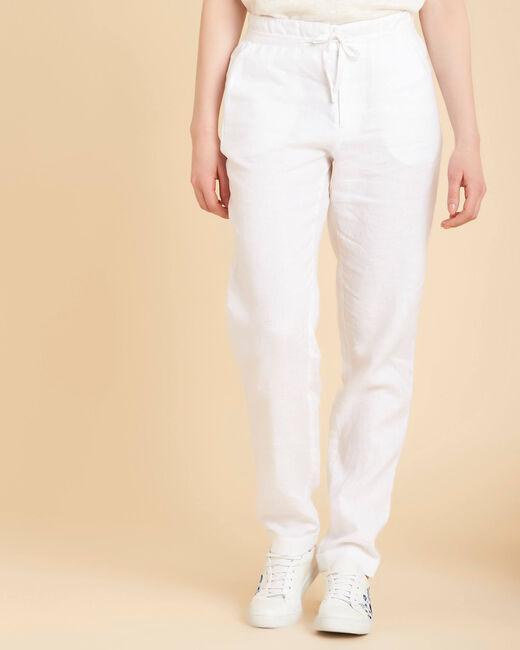 Pantalon blanc en lin Joris (2) - 1-2-3