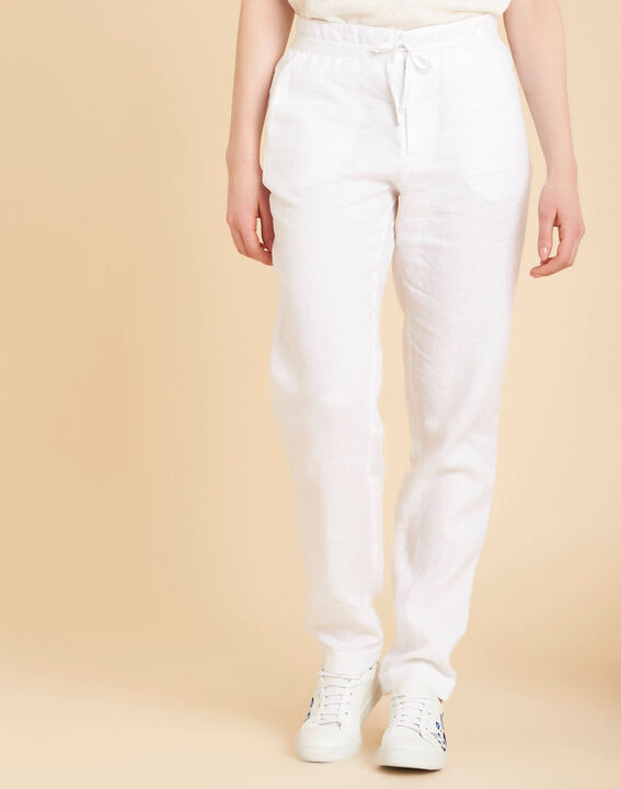 Joris white linen trousers (3) - 1-2-3