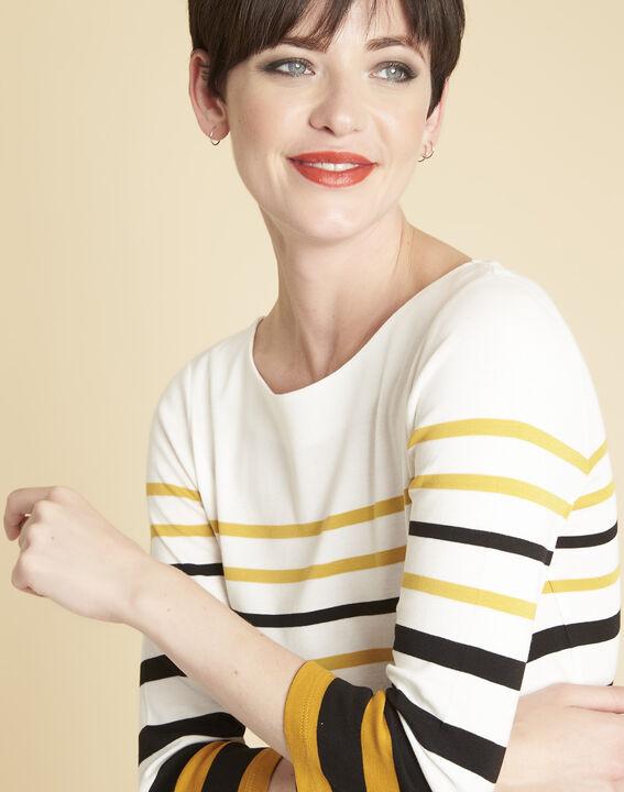 Gasayat ochre striped T-shirt (3) - 1-2-3