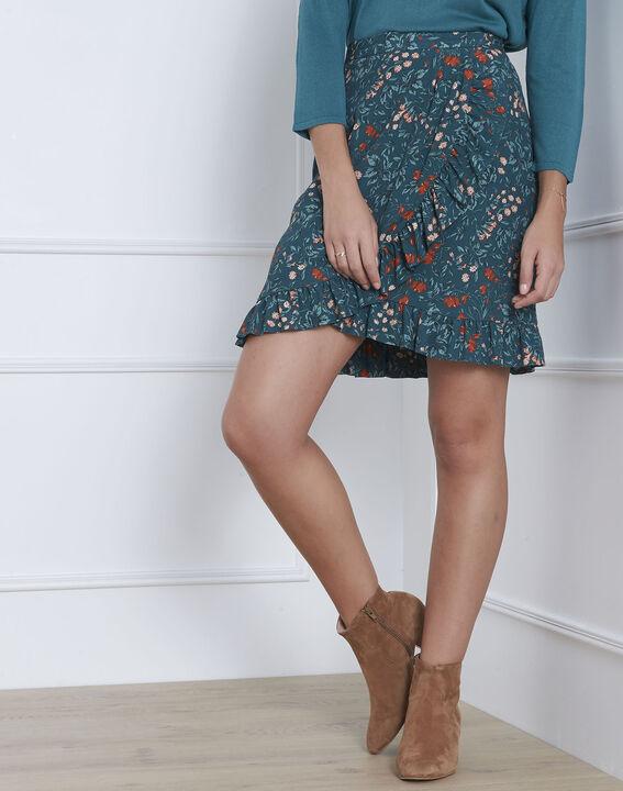 Jupe bleue imprimé fleuri Scarlett (1) - Maison 123