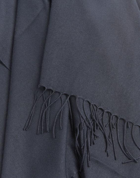 Fossette fringed navy blue scarf (2) - 1-2-3