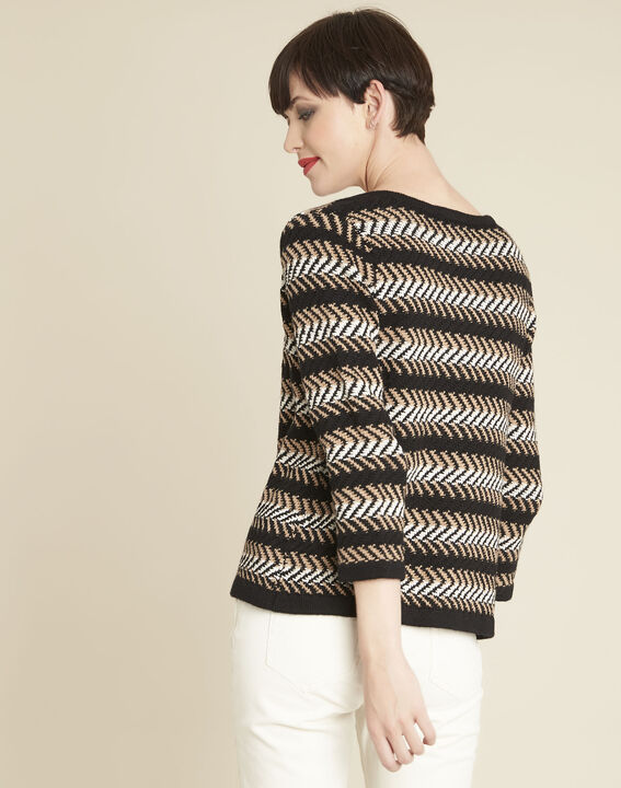Bellini black striped cardigan (4) - 1-2-3