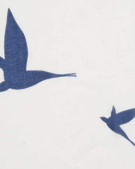 Foulard imprimé oiseaux Ellora (2) - 1-2-3