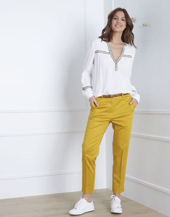 Pantalon jaune cigarette Rubis (1) - 1-2-3