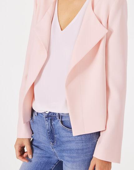 Lili pale pink cropped jacket (2) - 1-2-3