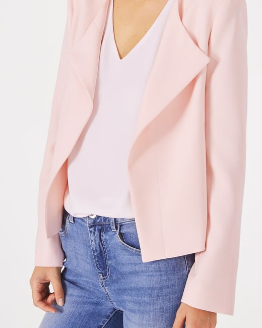 Lili pale pink cropped jacket (2) - 1-2-3