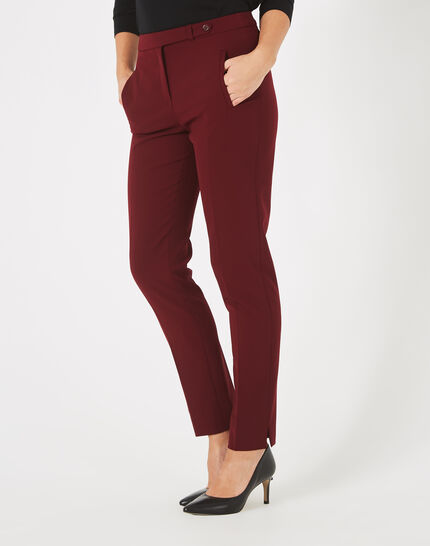 Lara blackcurrant tailored trousers (2) - 1-2-3