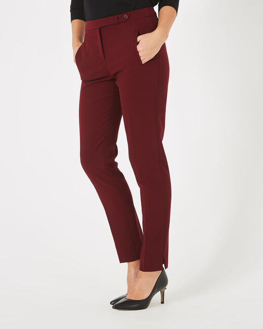Lara blackcurrant tailored trousers (1) - 1-2-3