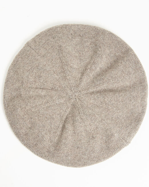 Ustave taupe cashmere beret (2) - 1-2-3