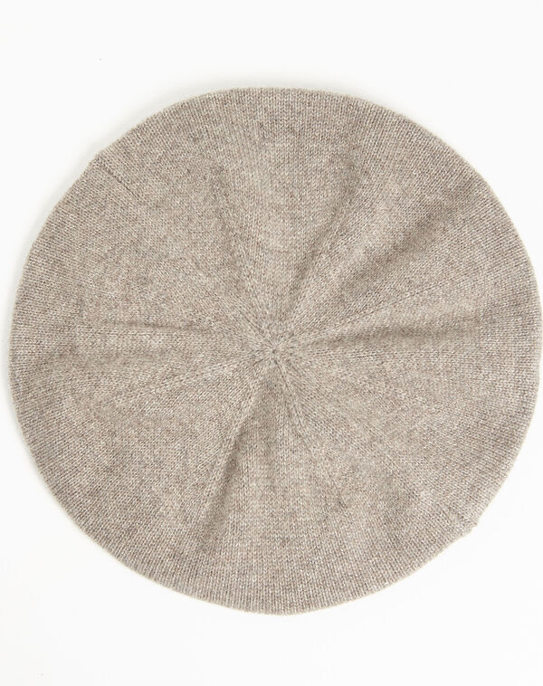 Taupefarbene Baskenmütze aus Kaschmir Ustave (2) - 1-2-3