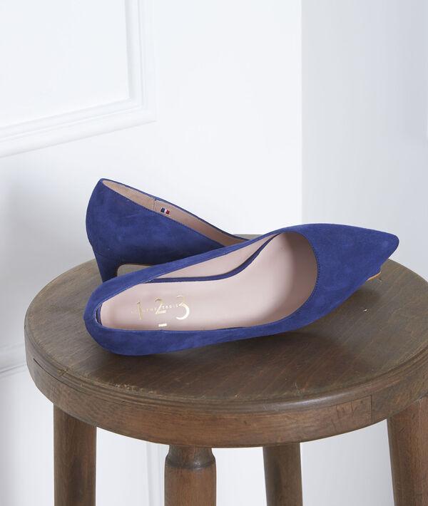 Blauwe pumps van geitenvelours Lili PhotoZ | 1-2-3