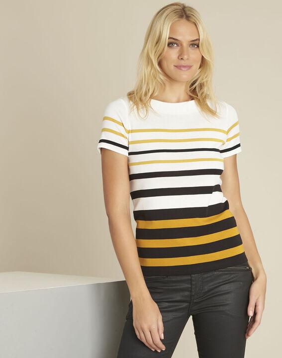 Gasayat amber striped crew neck t-shirt PhotoZ | 1-2-3