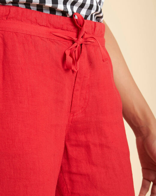 Joris red linen trousers (1) - 1-2-3
