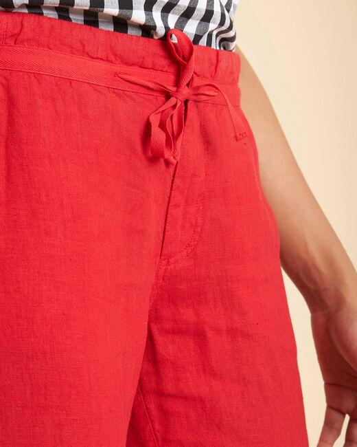 Pantalon rouge en lin Joris (2) - 1-2-3
