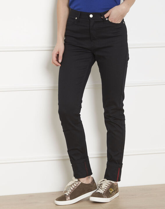 Jean noir slim revers Cathy PhotoZ | 1-2-3