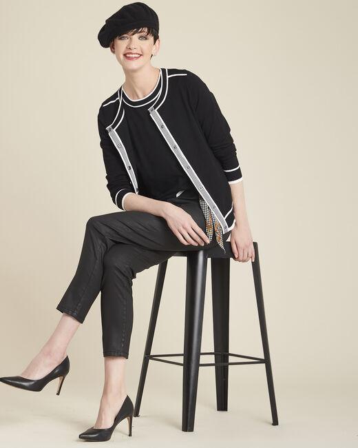 Gilet noir bords contrastés Beauty (2) - 1-2-3