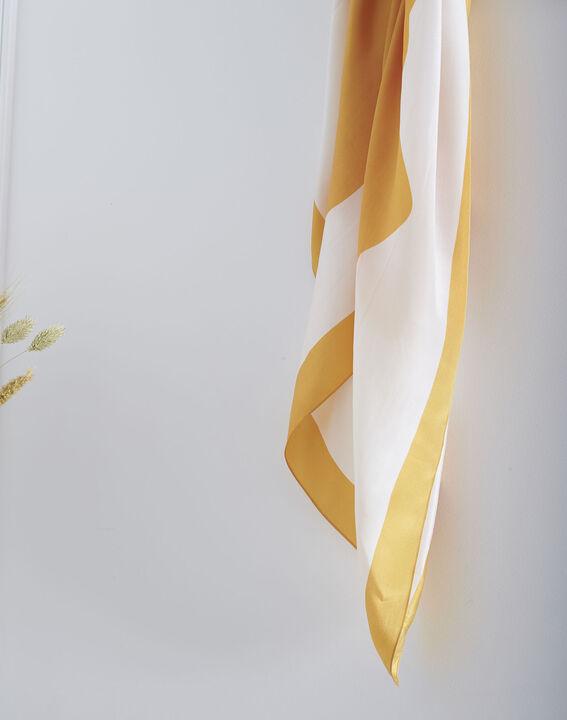 Carré de soie anis imprimé floral Ollie (2) - Maison 123