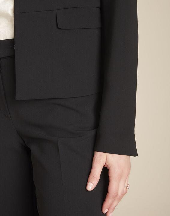 Veste noire poches à rabat microfibre Charme (3) - Maison 123